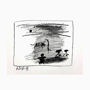 Litografia originale 1961 di Pablo Picasso - Les Banderillas
