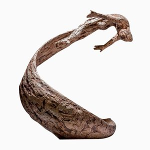 Ian Edwards - Life's Wave - Originales signiertes Sculpure Bronze 2017