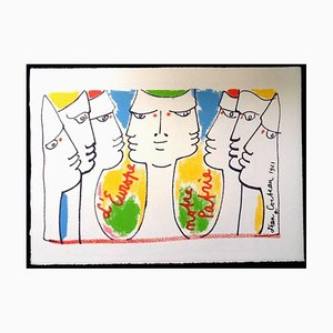 Jean Cocteau - Europe's Construction - Original Lithograph 1961