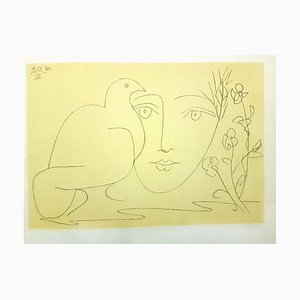 Face of Peace - Lithograph 1951