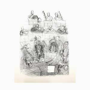 Raoul Dufy - Orchestra - Original Radierung 1940