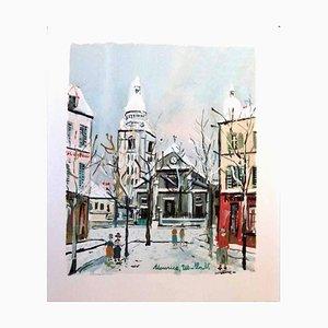 L'Eglise Saint Pierre de Montmartre - Pochoir 1950