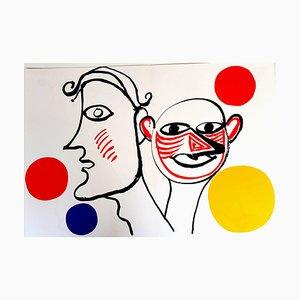 Litografia Alexander Calder - Behind the Mirror 1976