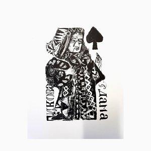 Antoni Clavé - Originale Lithographie - Für Puschkin's Pik-Dame 1946
