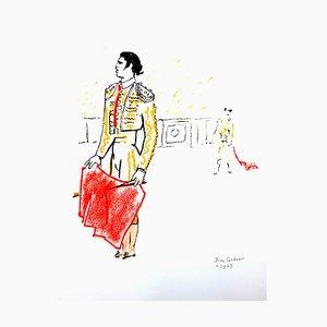 Lithographie de Jean Cocteau - Bulls - Original 1965