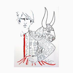 Jean Cocteau - Bulls - Litografia originale, 1965