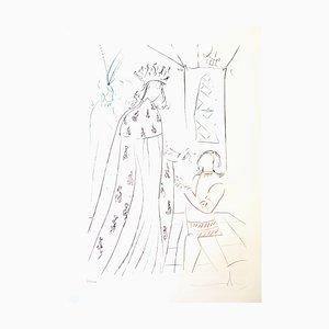 Salvador Dali - The Knighting of Lancelot - Original Handsigned Etching 1975