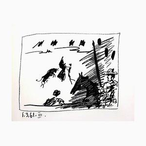 Litografia originale 1961 di Pablo Picasso - Jeu de la Cape
