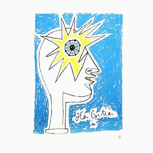 Litografia originale firmata Jean Cocteau - Profil, anni '50
