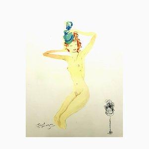 Domergue - Almost Dressed - Original Lithograph 1956