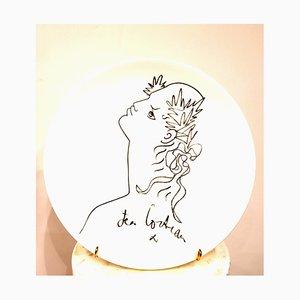Jean Cocteau - Profil - Porcelaine de Porcelaine de Limoges 1965