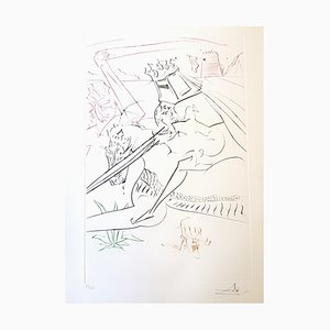 Salvador Dali - The Black Knight - Originale Handsignierte Radierung 1975