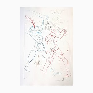 Gravure à l'Eau-Forte de Salvador Dali - The Tournament of Galore - Original 1975