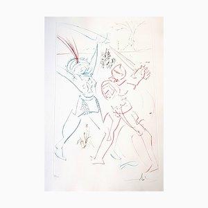 Salvador Dali - The Tournament of Galore - Original Handsigned Etching 1975