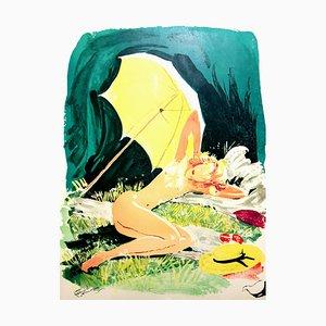 Domergue - The Little Star - Signierte Originale Lithographie von 1956
