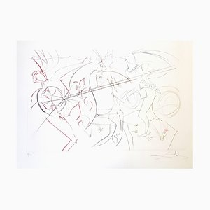 Salvador Dali - The Garde - Original Handsigned Etching 1975