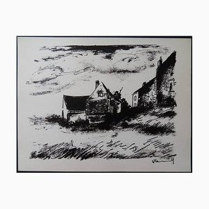 Lithographie Maurice de Vlaminck - House in Rueil - 1958