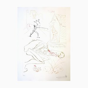 Salvador Dali - Fight Before la Dame - Original Handsigned Etching 1975
