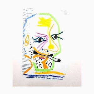 Le Goût de Bonheur: one plate (Smoking Portrait ) 1970