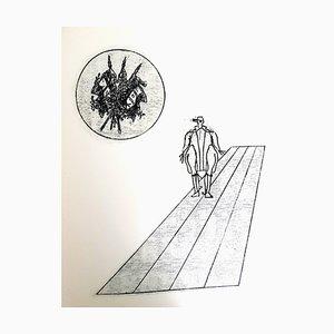 Litografia Max Ernst - The Soldier - Original 1972