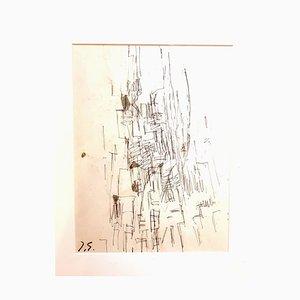 Jacques Germain-Ohne Titel - Signierte originale Zeichnung C.1970