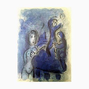 Lithographie de Marc Chagall - The Bible - Rahab and the Spies of Jericho