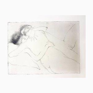 Jean Gabriel Domergue - The Hug - Original Etching 1924