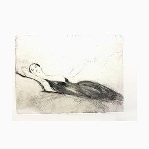 Jean Gabriel Domergue - Lying Woman - Original Etching 1924