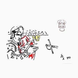 Lithographie Jean Cocteau - Hero - Original 1965
