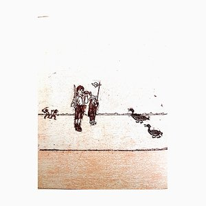 Lithographie Max Ernst - The Soldier - Original 1972