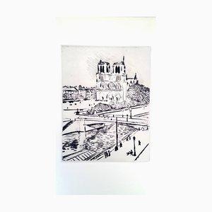 Albert Marquet - Notre Dame - Original Radierung 1927