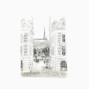 Raoul Dufy - Haussmann Architecture - Original Etching 1940