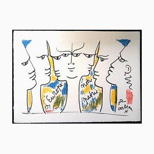 Jean Cocteau - Jean Monnet's Vision - 1965 Originale Lithographie