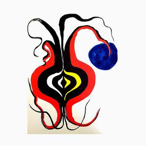 Alexander Calder - Original Lithografie - Hinter dem Spiegel 1976
