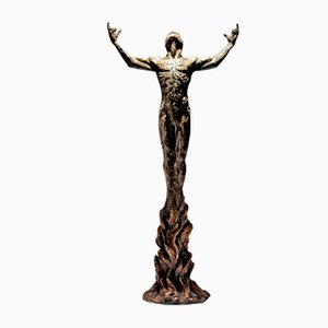 Sculpture Ian Edwards - Born Within Fire - Bronze Signé Original 2017
