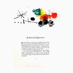 Joan Miro - Abstract Composition - Original Lithograph 1964