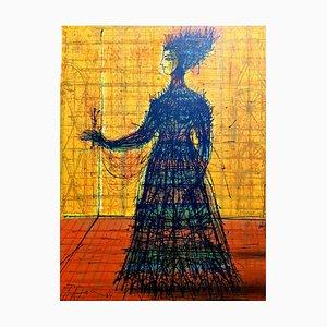 Woman - Lithograph 1965