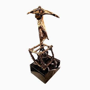 Salvador Dali - Flying - Original Bronze Sculpture C.1970
