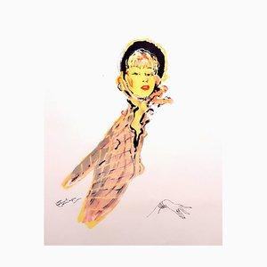 Lithographie Domergue - Parisienne - Original Signed 1956
