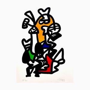 Charles Lapicque - Original Handsigned Lithograph - Ecole de Paris Circa 1960