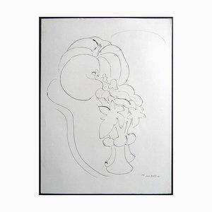 Lithographie - Lithographie - Citrouille et Fleurs 1943