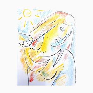 Litografía original Jean Cocteau - Antigone - 1957