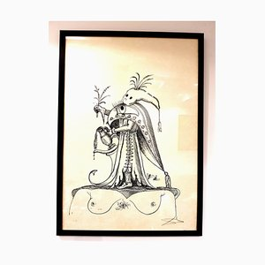 Lithographie Salvador Dali - Les Songes Drolatiques - Lithographie Signée 1973