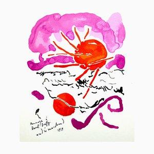 André Marchand (après) - Hommage à Dufy - Lithographie 1965
