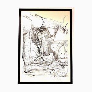 Salvador Dali - Les Songes Drolatiques - Handsigned Lithograph 1973