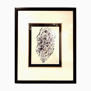 Jacques Germain -Unitled - Original Signed Ink C.1970
