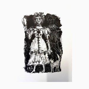 Lithographie Originale par Antonia Clavé - For Pushkin's Queen of Spades 1946