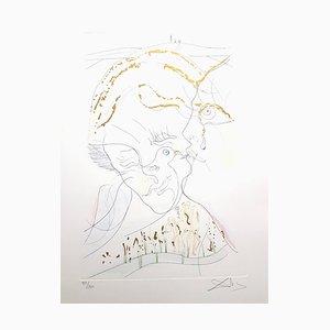 Salvador Dali - Dove Eyes - Aquatinte Signée 1971