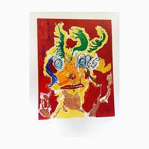 Armand Nakache - Original Handsignierte Lithographie - Ecole de Paris Circa 1960