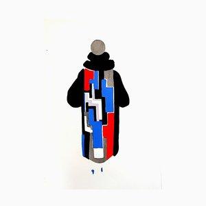 Peinture Sonia Delaunay - Living Painting - Couleur Pochoir 1969